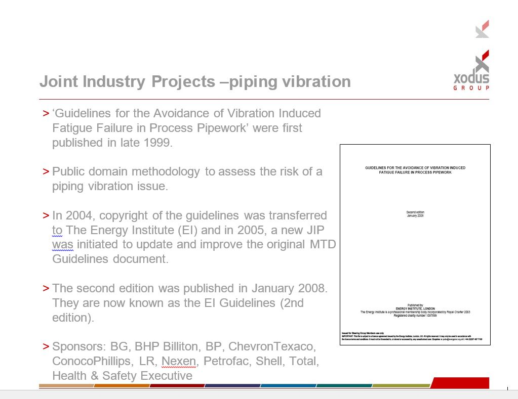 Bekendheid relatie gastransport en vibratie, LFG